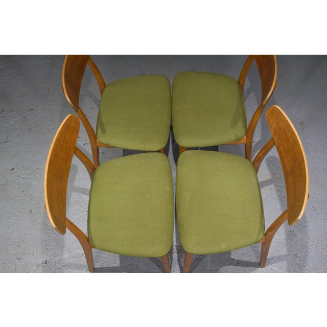 Danish Modern Teak Dining Chairs- Set of 4 For Sale In Boston - Image 6 of 10
