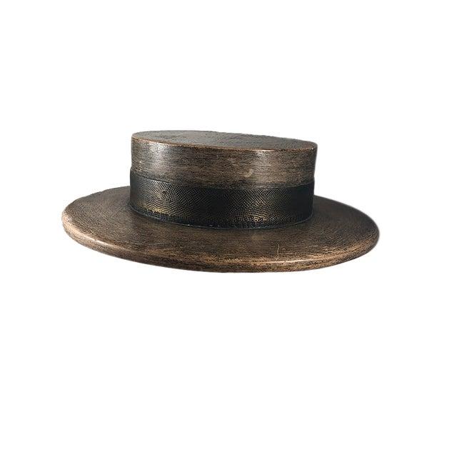 1930s Vintage Wood Hat Mold For Sale