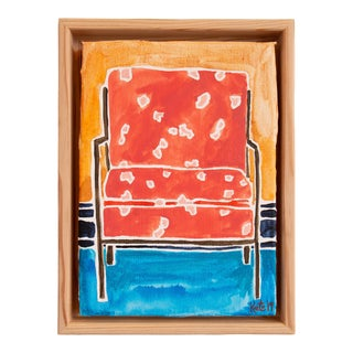 Kate Lewis Red Chair Original Painting For Sale