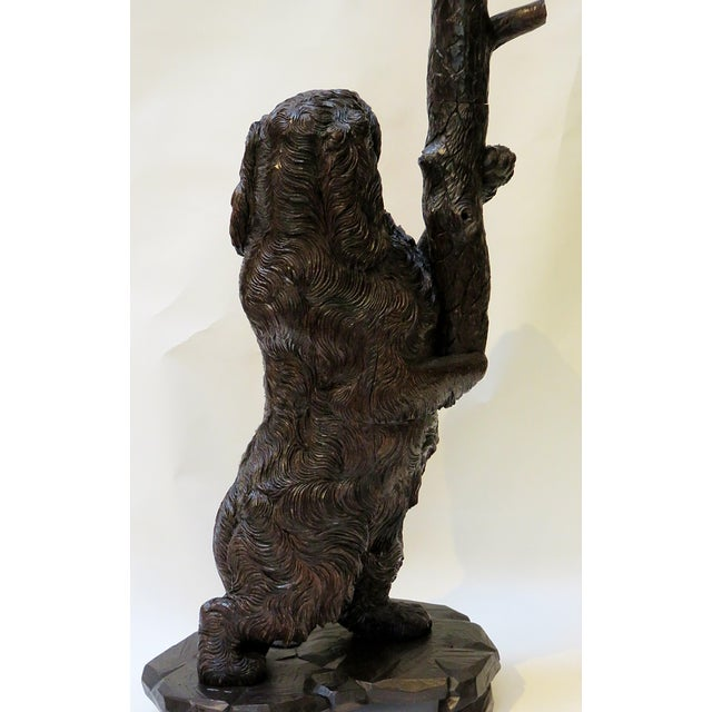 Late 19th Century Swiss Black Forest Wood Carved Coat & Hat Rack For Sale - Image 4 of 4