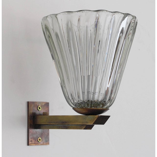 Barovier & Toso Vintage Mid Century Single Bell Sconce by Barovier E Toso Final Clearance Sale For Sale - Image 4 of 10