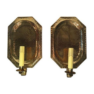 Gustavian-Style Shield Sconces - A Pair