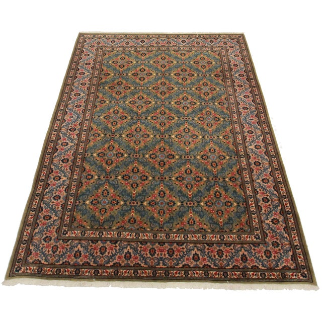 "Asian Style Persian Area Rug - 6'1"" x 10' - Image 2 of 2"