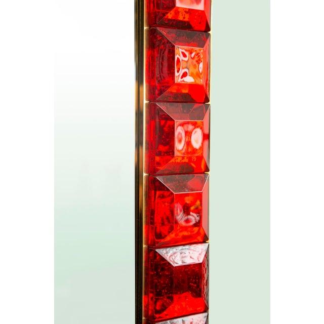 Contemporary Red Diamond Murano Glass Mirror For Sale In Miami - Image 6 of 9