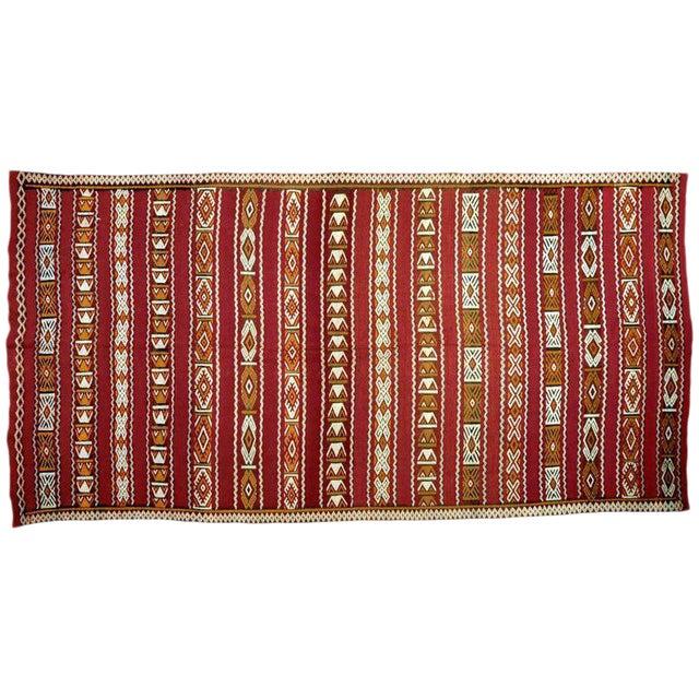 Moroccan Tribal Design Runner - 5′8″ × 11′4″ For Sale