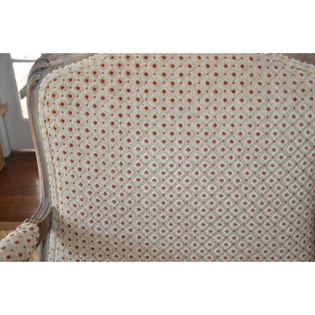 French Upholstered Bergere Chairs- A Pair - Image 3 of 10