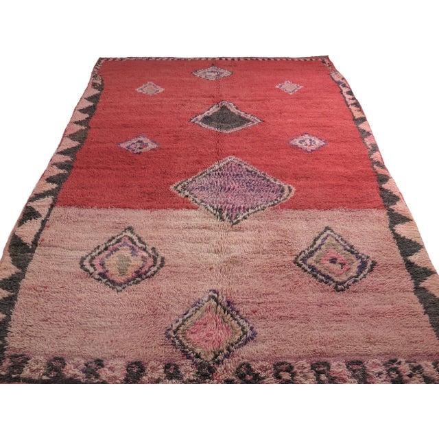 Vintage Moroccan Boujad Rug For Sale - Image 4 of 11