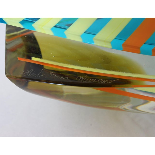 Glass Sailboat Sculpture by Alberto Dona' For Sale - Image 7 of 9