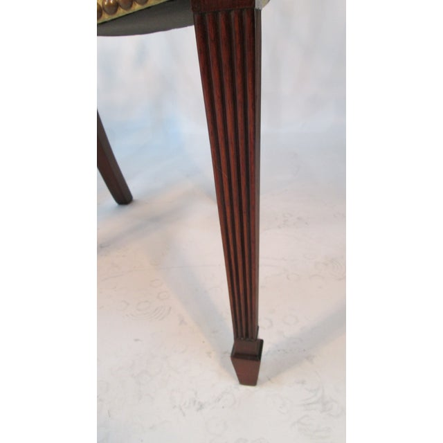 Wood 1940s Vintage Custom Made Mahogany Chairs- Set of 6 For Sale - Image 7 of 10