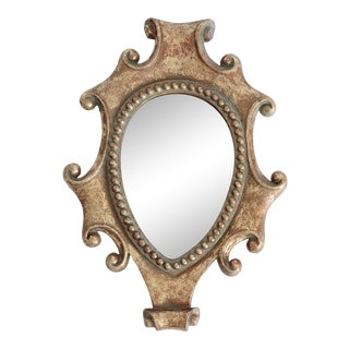 Golden Scroll Wall Mirror For Sale