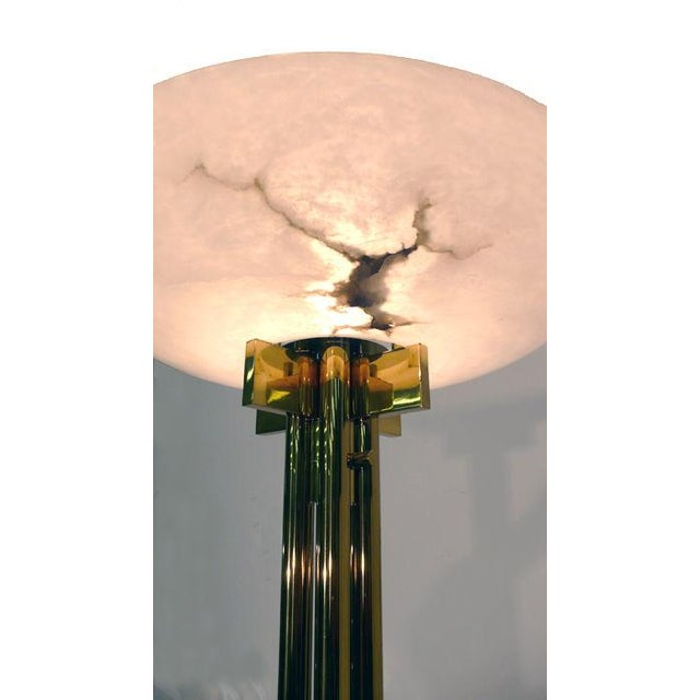 Casella Bronze and Alabaster Casella Floor Lamp, 1970s For Sale - Image 4 of 5
