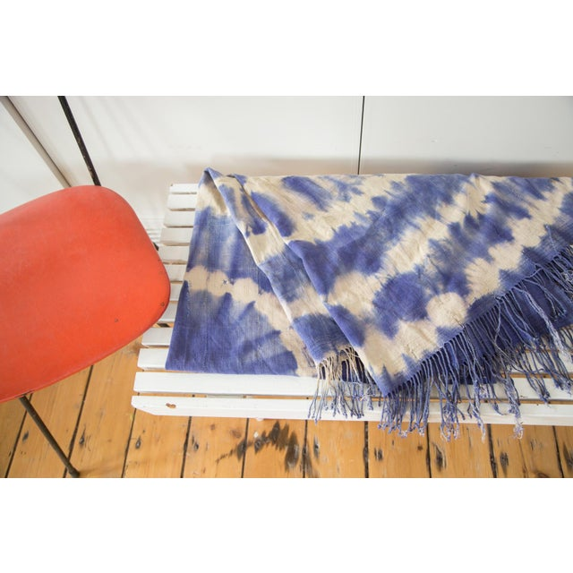 """Vintage African Textile Throw - 3'3"""" X 6'4"""" - Image 2 of 7"""
