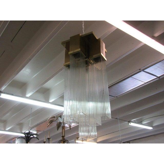Gaetano scoiolari glass rod chandelier chairish gaetano scoiolari glass rod chandelier image 7 of 8 audiocablefo