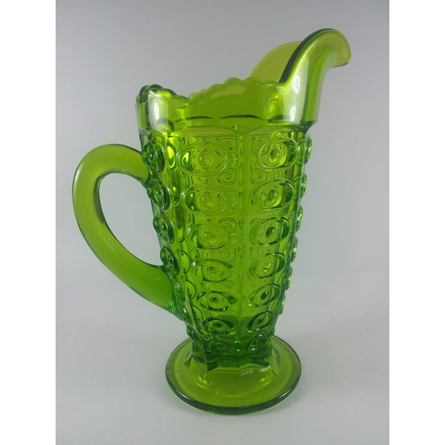Truly striking Viking Glass Mid-Century pitcher. In super condition. No maker's marks. Holds 16oz.