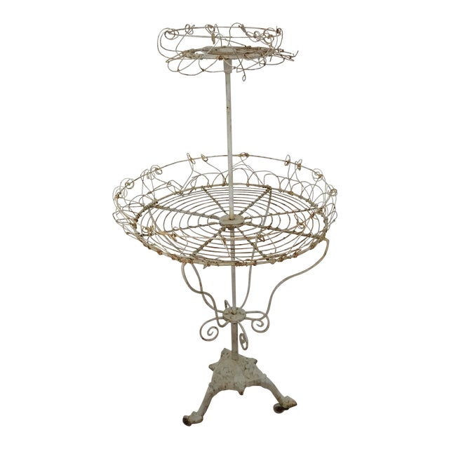 Antique French Tiered Wire Stand - Image 1 of 9