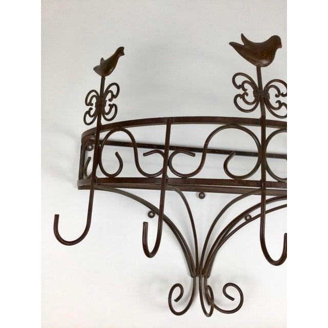 Vintage Steel Wall Pan Holder Shelf For Sale - Image 11 of 13
