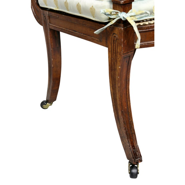 Regency Mahogany and Ebony Inlaid Armchair For Sale - Image 9 of 13