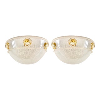 Pair of Vintage Murano Glass Sconces by Seguso for Versace, 1990s For Sale