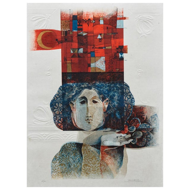 Alvar Sunol Munoz-Ramos, Untitled, Signed and Numbered, # 63/80, 1980 For Sale