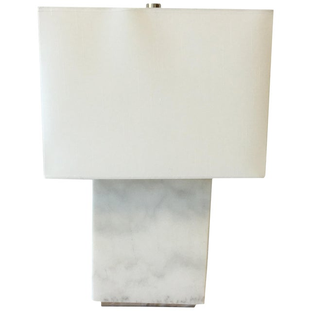 Ralph Lauren Marble Lamp With Shade For Sale