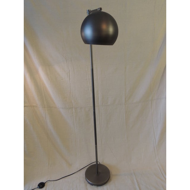 2010s Gun Metal Finish Articulated Floor Lamp For Sale - Image 5 of 6