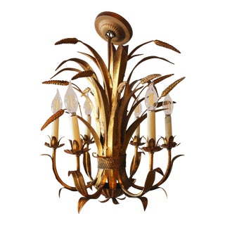 Vintage Mid Century Italian Chandelier For Sale