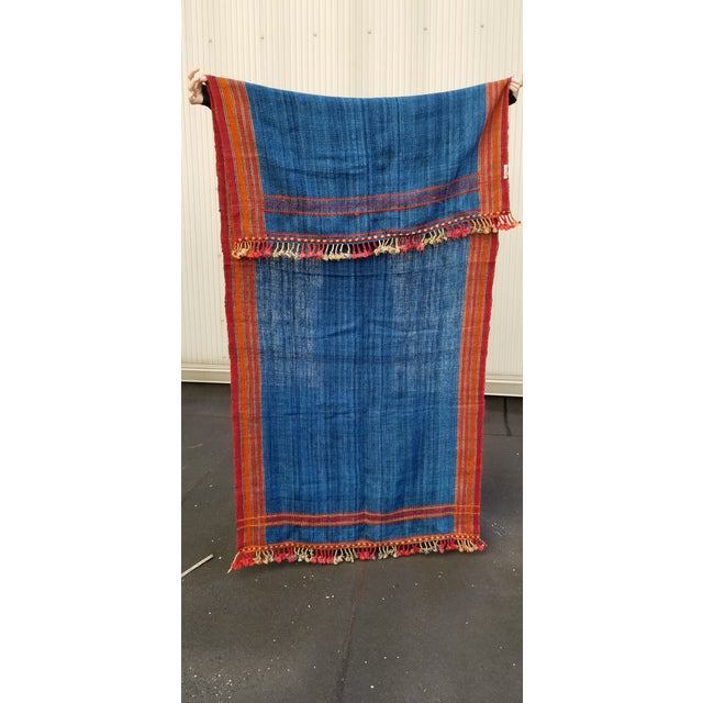 Vibrant and striking hand woven wool throw. Woven by the vankar's of Kutch.