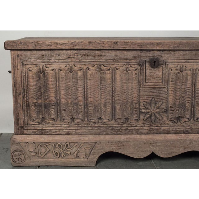 Antique Bleached Wood Blanket Chest - Image 6 of 9
