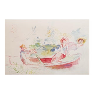Renoir Boating Party, Large 1959 Lithograph For Sale
