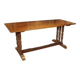 17th Century French Oak Baluster Leg Table For Sale
