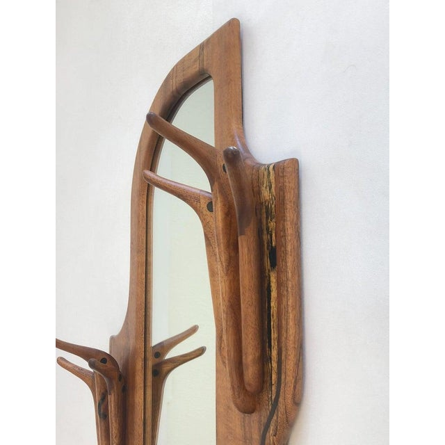 Studio Walnut Mirror by Charles B. Cobb For Sale - Image 4 of 10