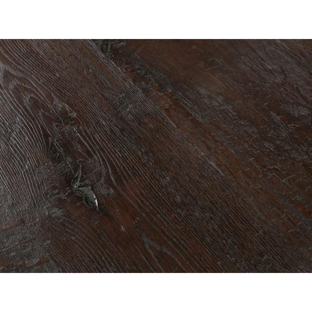 Wood Antique French Oak Trestle Dining Table For Sale - Image 7 of 13