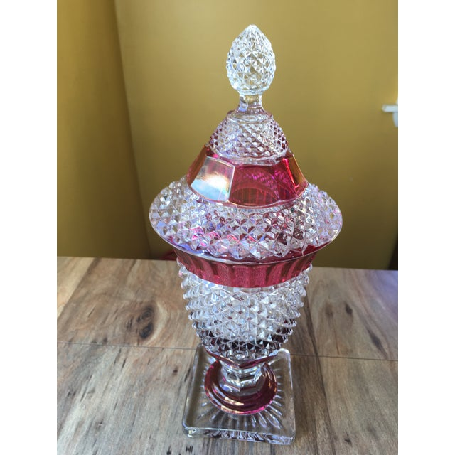 Transparent Westmoreland Glass English Hobnail Large Candy Dish For Sale - Image 8 of 8