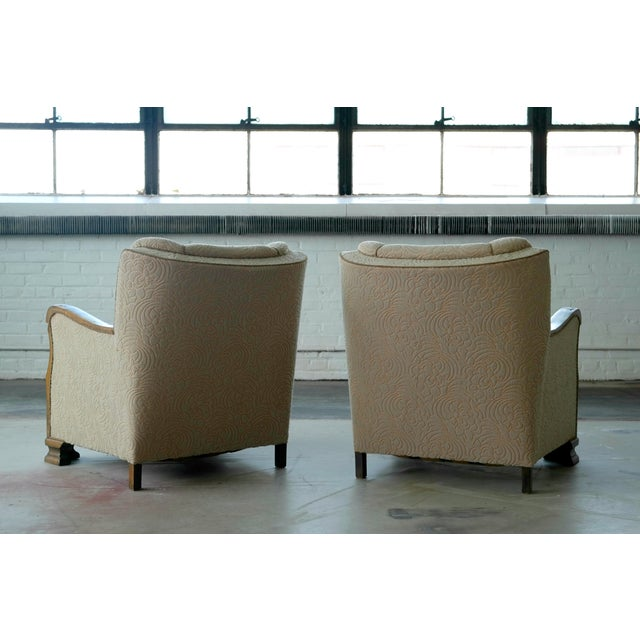Danish 1940's Club Chairs - A Pair - Image 6 of 8