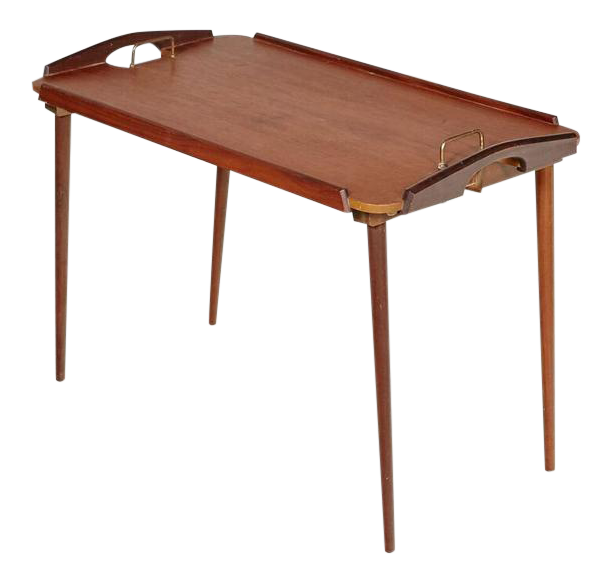 Norwegian Mid Century Folding Tray Table Chairish