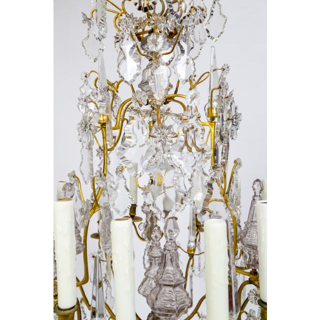 18-Arm Gilded Bronze Birdcage Chandelier For Sale - Image 9 of 13