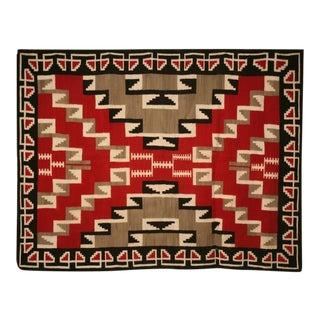 c.1940 Navajo Ganado Pattern Rug from Klagetoh, Az. For Sale