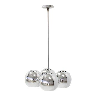 Mid-Century Modern Four Globe Light Fixture Pendant For Sale