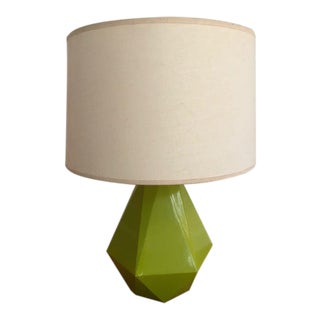 Contemporary Green Robert Abbey Delta Table Lamp For Sale
