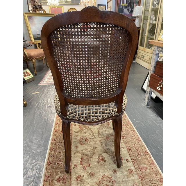 Brown 1920's French Country Walnut Dining Chairs - Set of 4 For Sale - Image 8 of 9