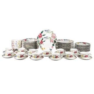 Mid 20th Century Villeroy & Boch Flora Bella Tableware China Set - Set of 81 Final For Sale