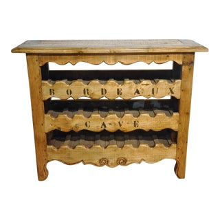 19th Century French Louis XV Buffet Converted Into Wine Cabinet From Bordeaux For Sale
