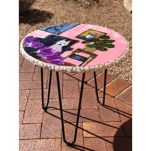 Contemporary Style J J Justice Side Table For Sale - Image 10 of 10