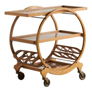 1940's French Art Deco Bar Cart For Sale
