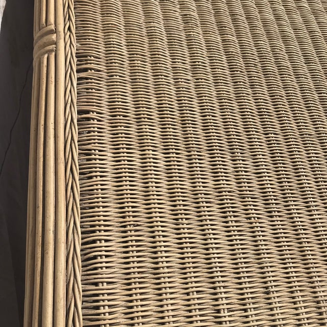 Bamboo 1960s Boho Chic Pencil Bamboo and Rattan Waterfall Coffee Table For Sale - Image 7 of 8