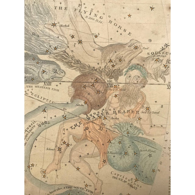 19th C. Antique Pair of Constellation Chart/ Celestial, Astrological Maps by Burrit 1835 For Sale In New York - Image 6 of 13