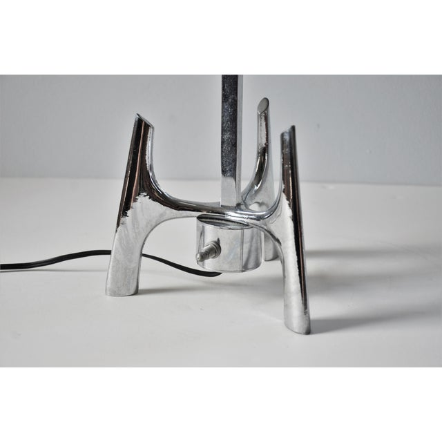1960s 1960s Mid-Century Modern Space Age Chrome Lamp For Sale - Image 5 of 12