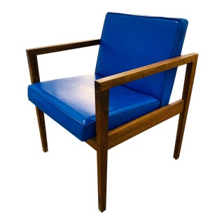 Mid-Century Modern George Nelson for Herman Miller Blue Armchair For Sale