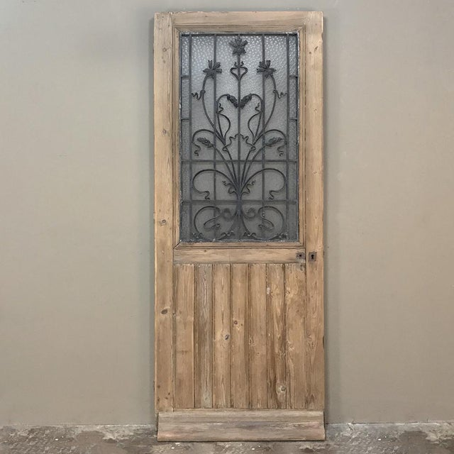 Art Nouveau Exterior Door, 19th Century French With Wrought Iron For Sale - Image 13 of 13