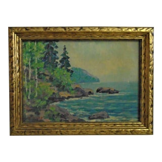 Antique E. M. Seager Oil on Board, Framed For Sale